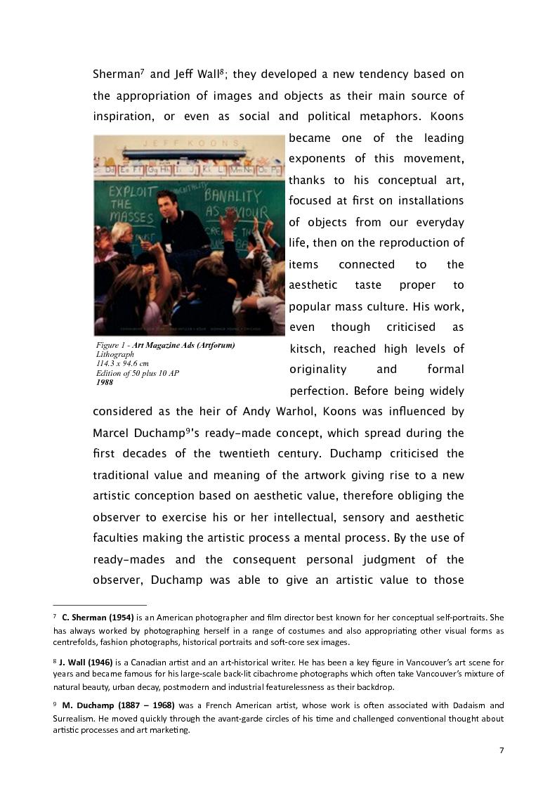 Anteprima della tesi: Jeff Koons and the use of American English, Pagina 6