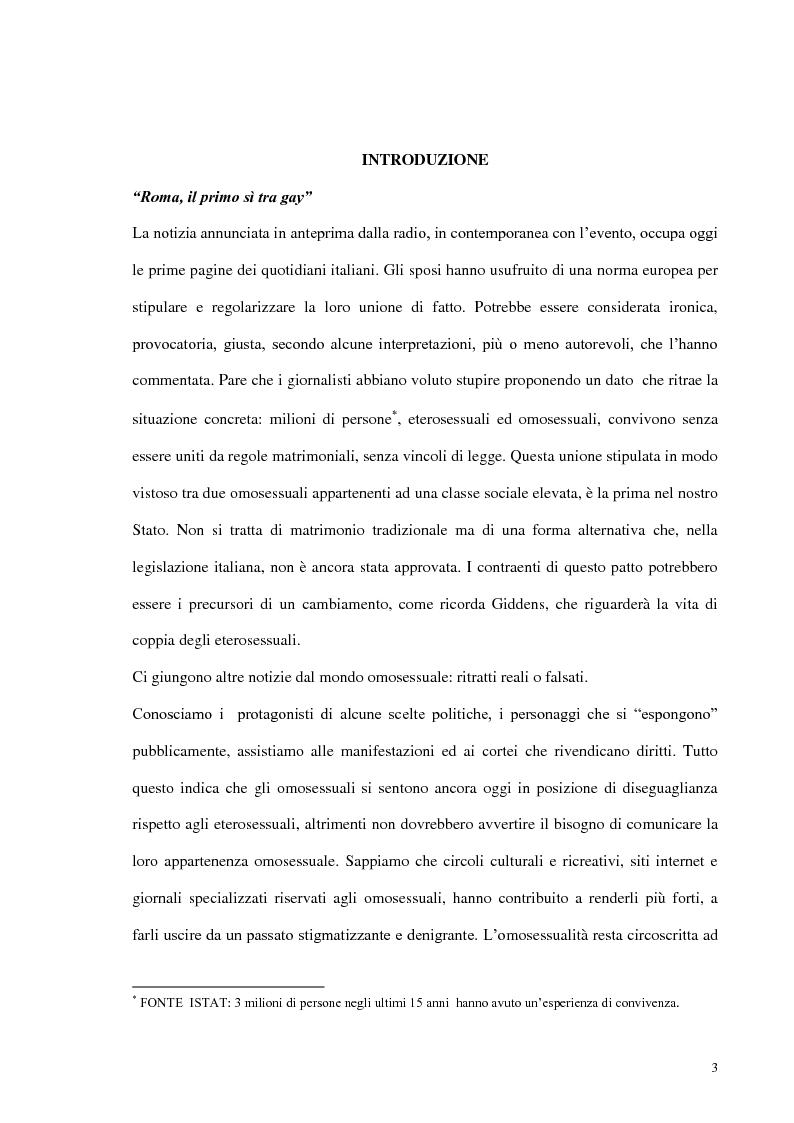 Anteprima della tesi: Modelli di amore e nuove forme di vita: il caso dell'omosessualità, Pagina 1