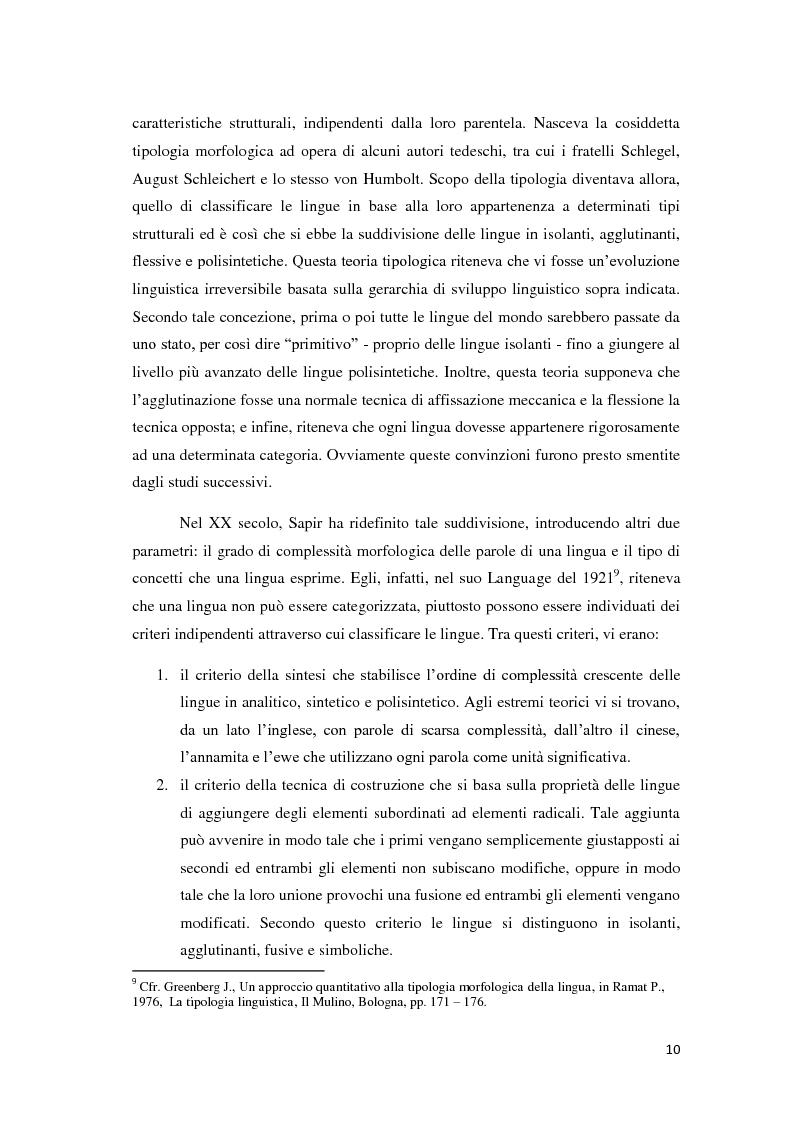 Anteprima della tesi: Didattica ludica dell'italiano alle elementari: il sistema nominale, Pagina 10