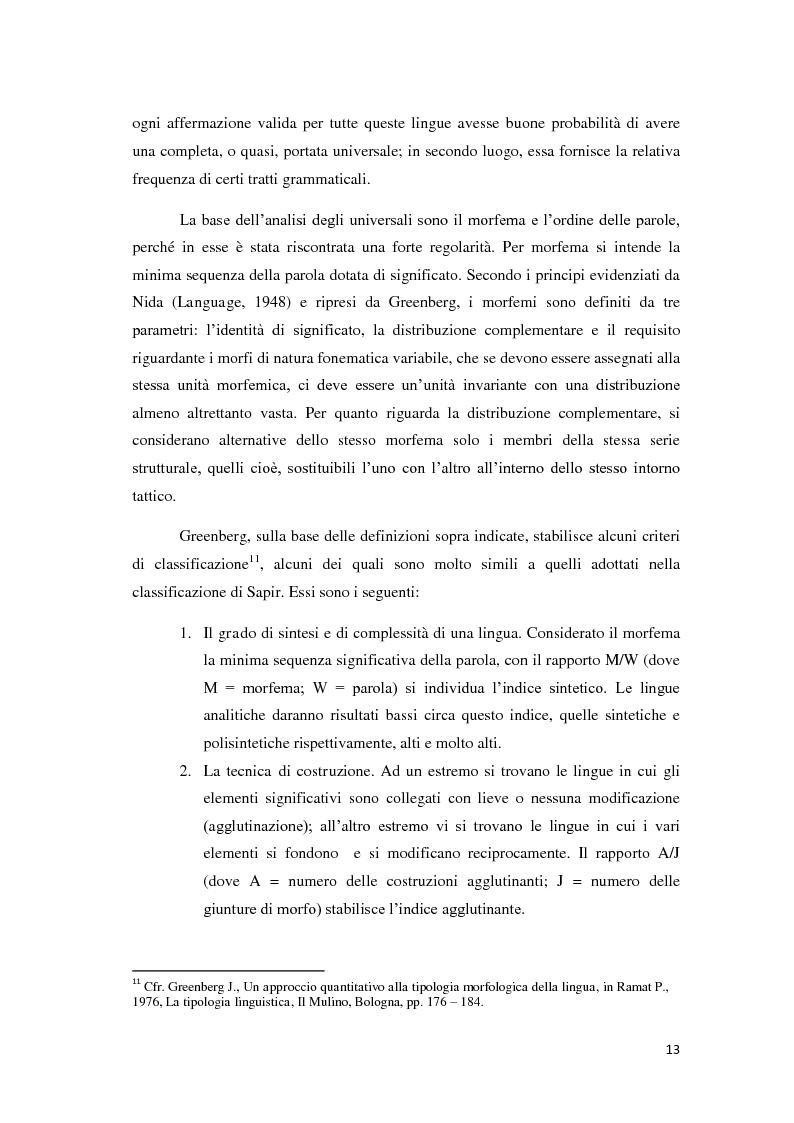 Anteprima della tesi: Didattica ludica dell'italiano alle elementari: il sistema nominale, Pagina 13