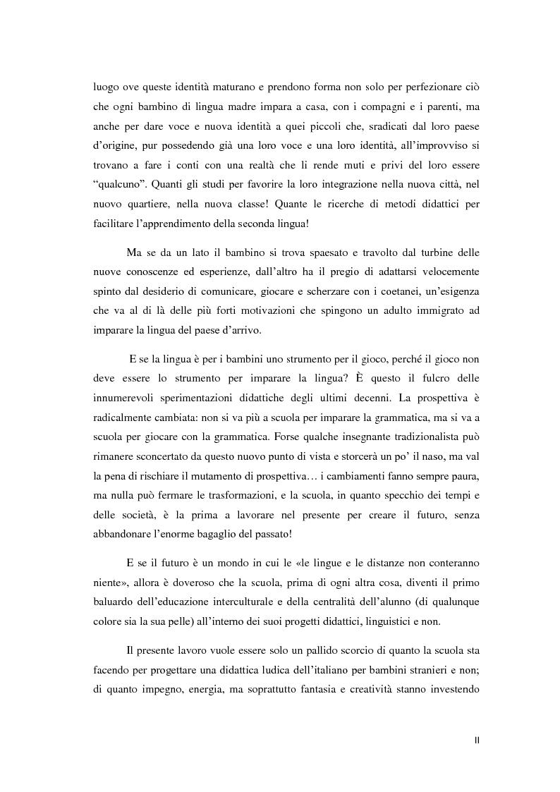 Anteprima della tesi: Didattica ludica dell'italiano alle elementari: il sistema nominale, Pagina 2