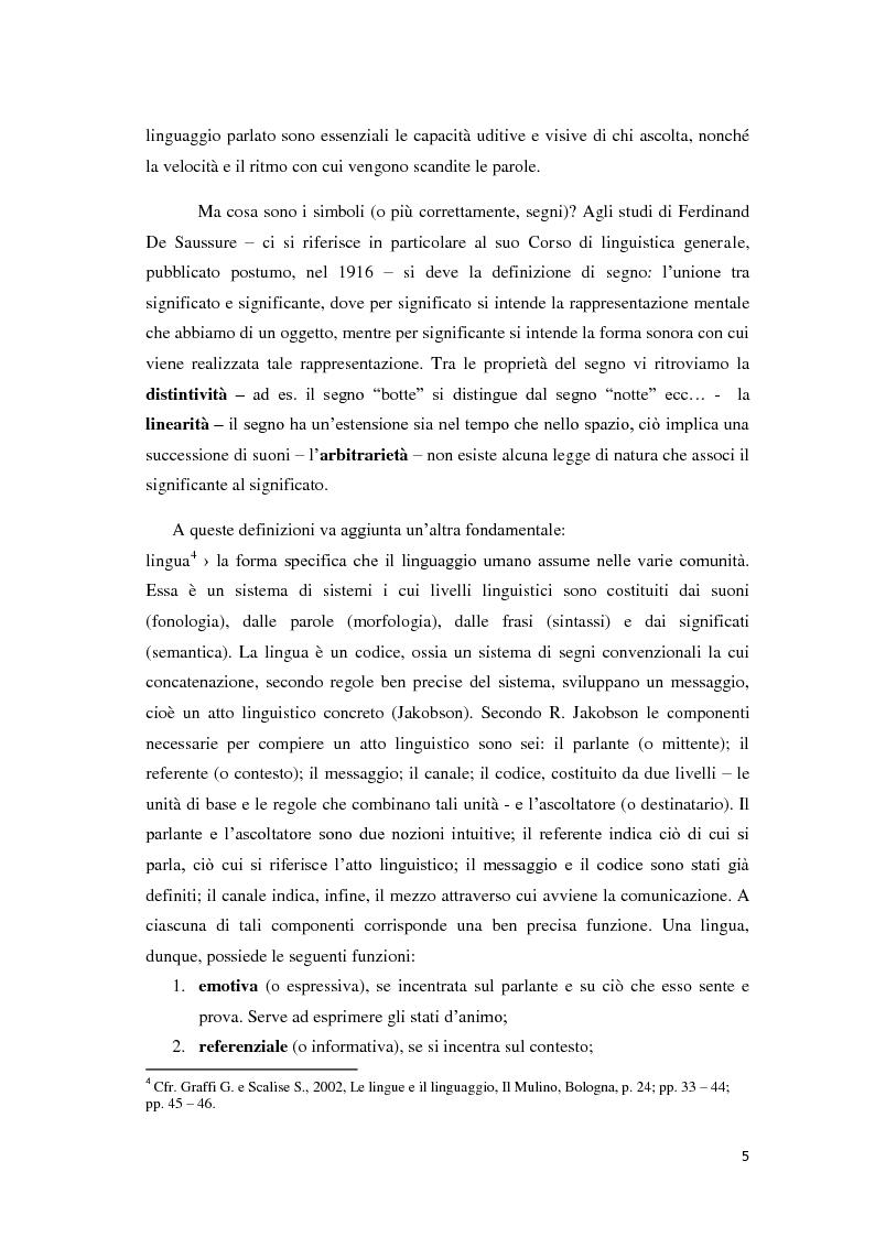 Anteprima della tesi: Didattica ludica dell'italiano alle elementari: il sistema nominale, Pagina 5