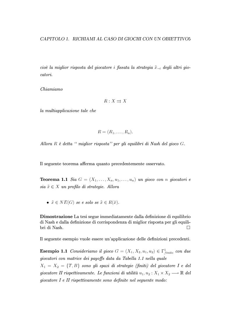 Anteprima della tesi: Giochi non cooperativi con più obiettivi, Pagina 10