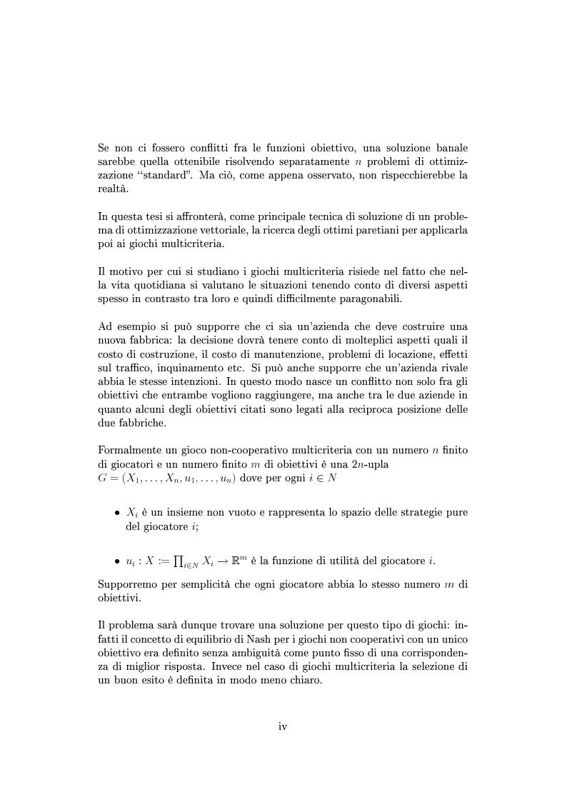 Anteprima della tesi: Giochi non cooperativi con più obiettivi, Pagina 2