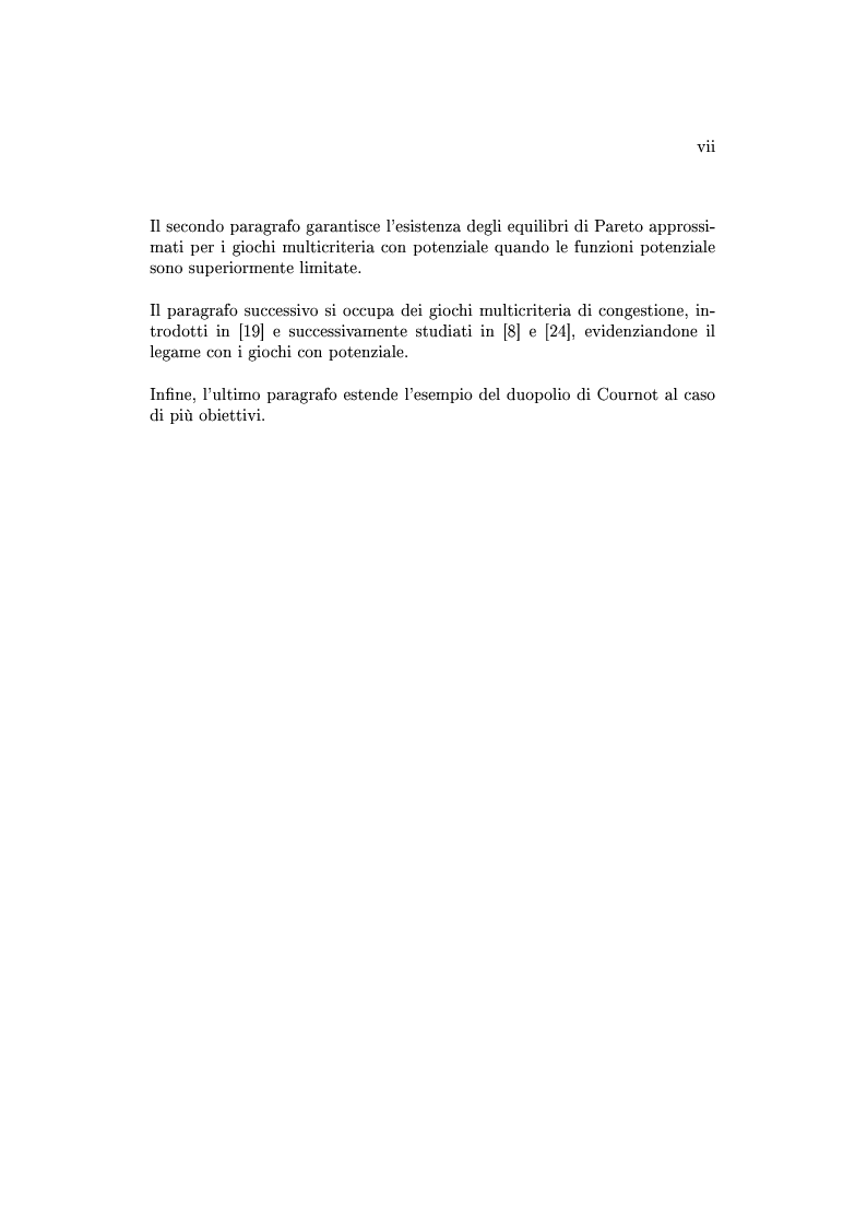 Anteprima della tesi: Giochi non cooperativi con più obiettivi, Pagina 5