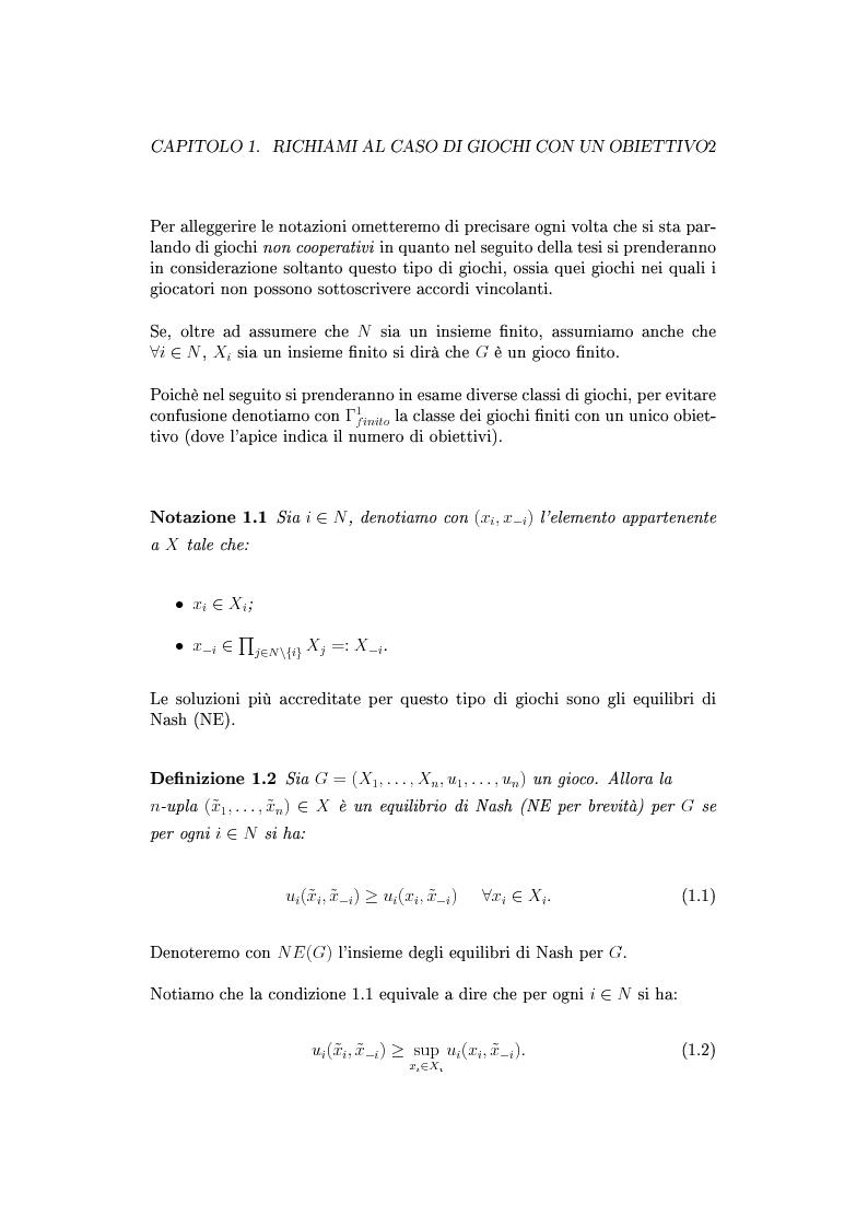 Anteprima della tesi: Giochi non cooperativi con più obiettivi, Pagina 7