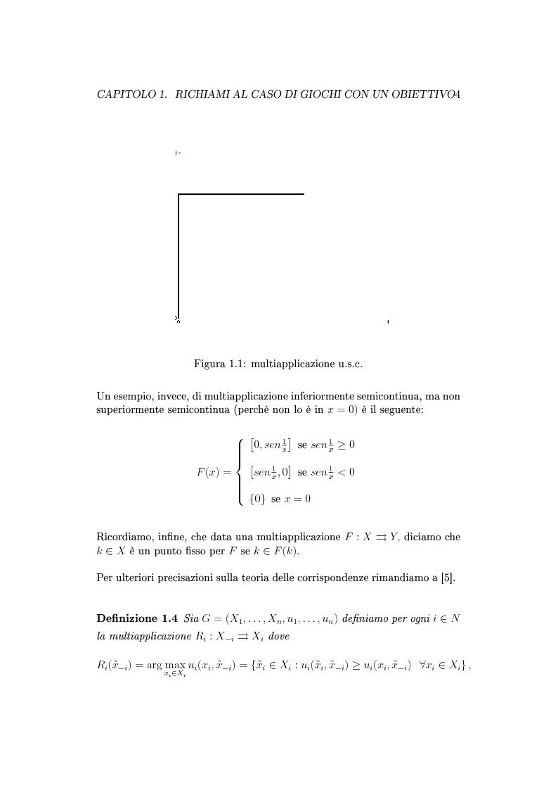 Anteprima della tesi: Giochi non cooperativi con più obiettivi, Pagina 9