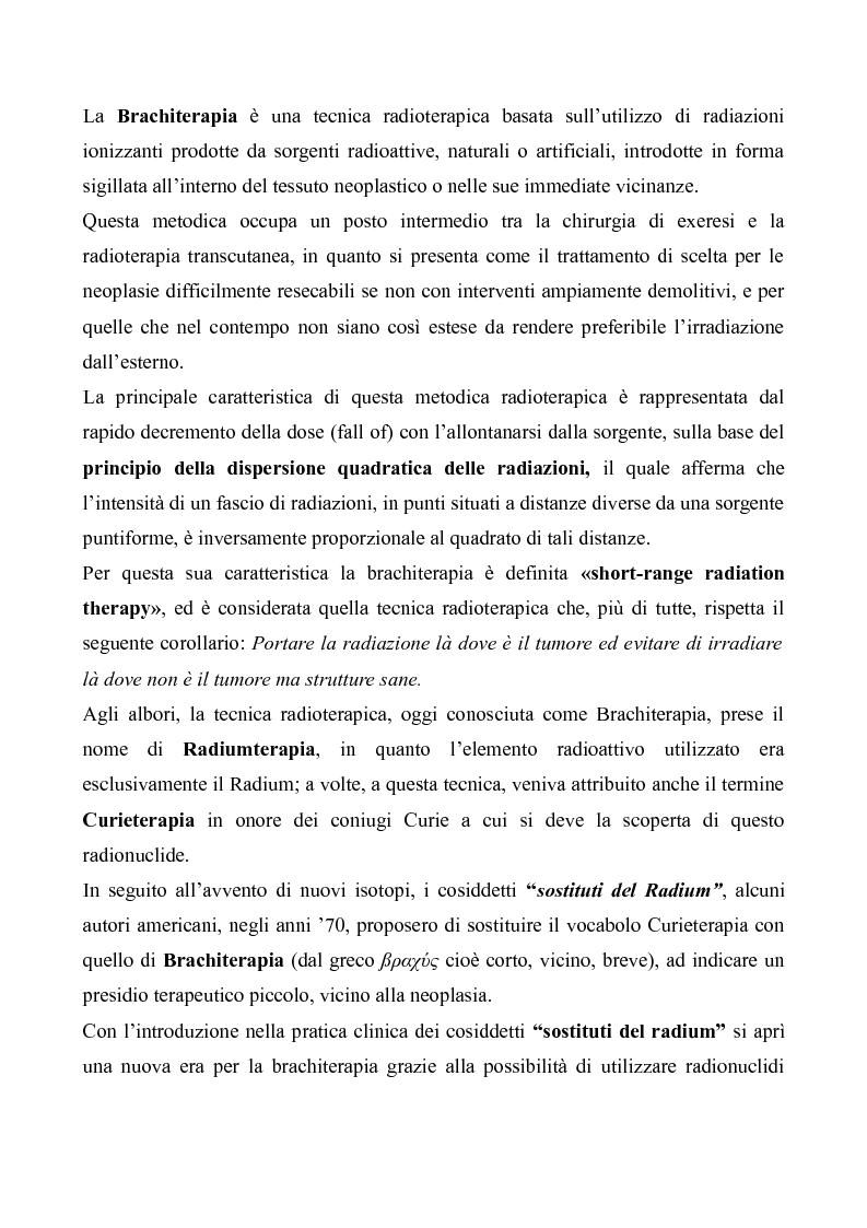 Anteprima della tesi: Tecniche moderne di brachiterapia e brachiterapia guidata alle nuove tecniche di immagine, Pagina 2