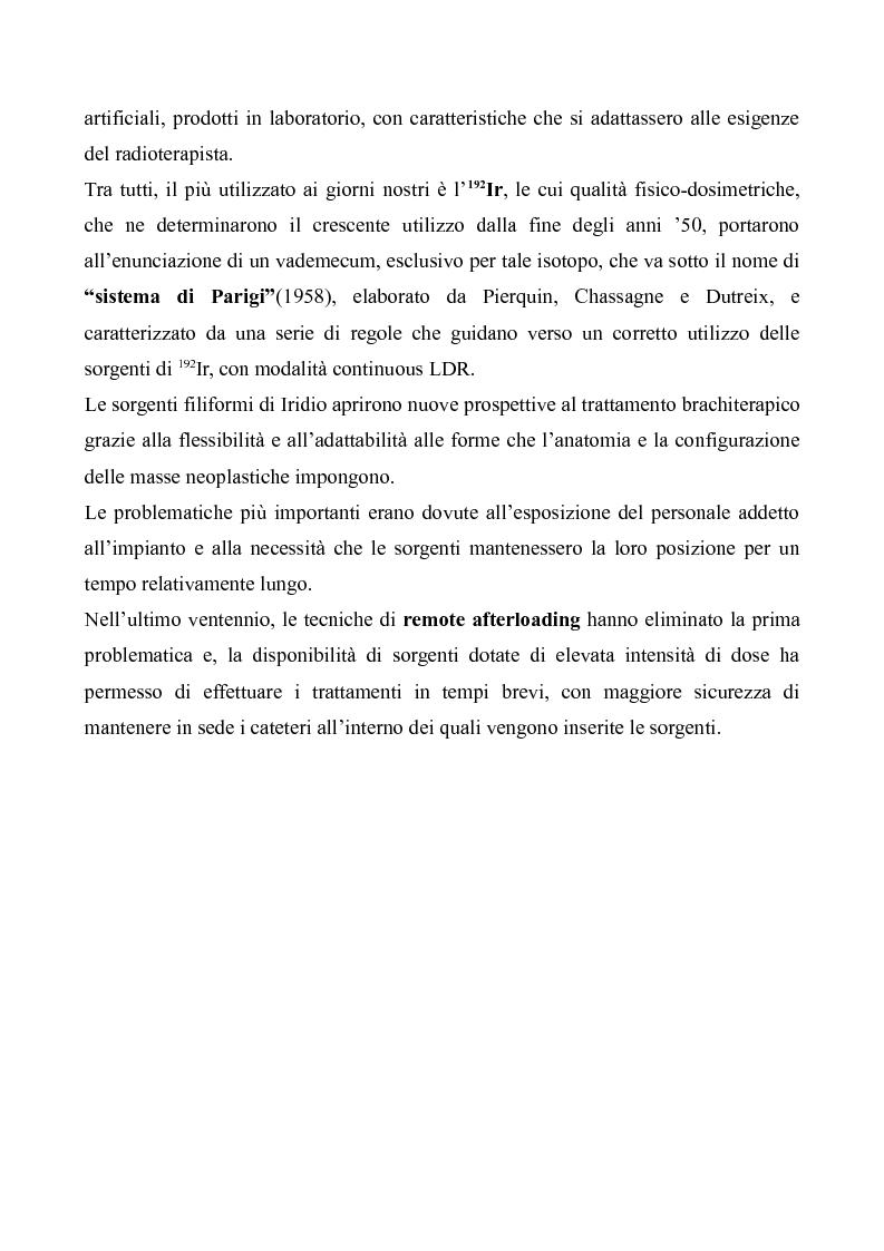 Anteprima della tesi: Tecniche moderne di brachiterapia e brachiterapia guidata alle nuove tecniche di immagine, Pagina 3