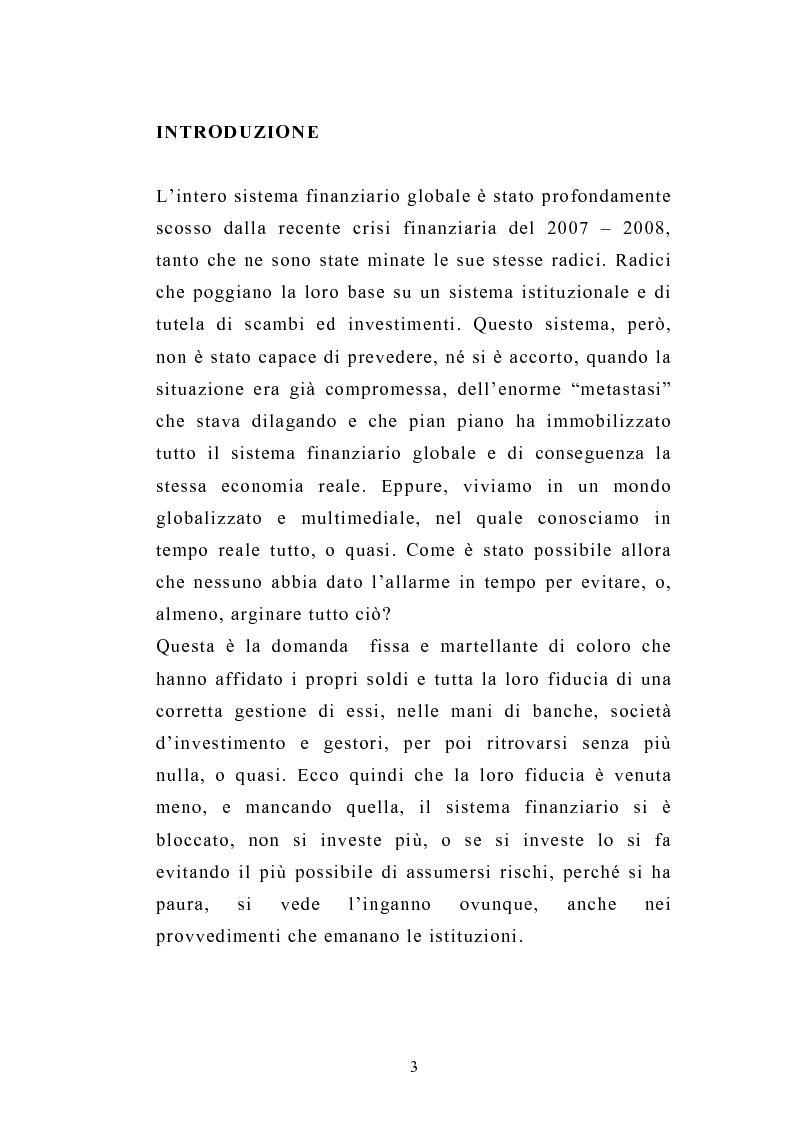 Anteprima della tesi: I servizi d'investimento prima e dopo la crisi finanziaria, Pagina 1