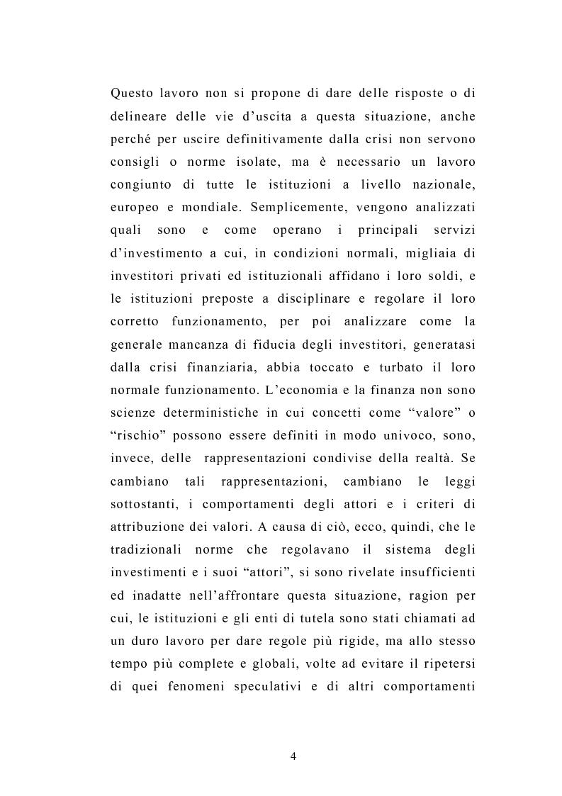 Anteprima della tesi: I servizi d'investimento prima e dopo la crisi finanziaria, Pagina 2