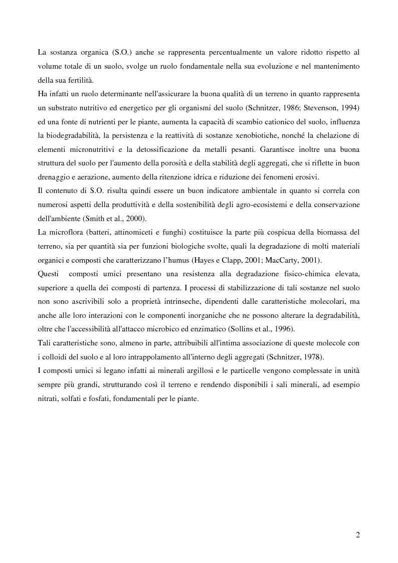 Anteprima della tesi: Analisi di genotossicità di suoli agricoli in colture biologiche e convenzionali di pomodoro, Pagina 2