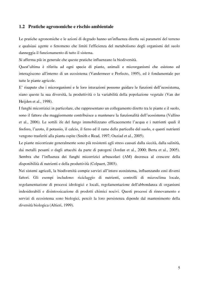 Anteprima della tesi: Analisi di genotossicità di suoli agricoli in colture biologiche e convenzionali di pomodoro, Pagina 5