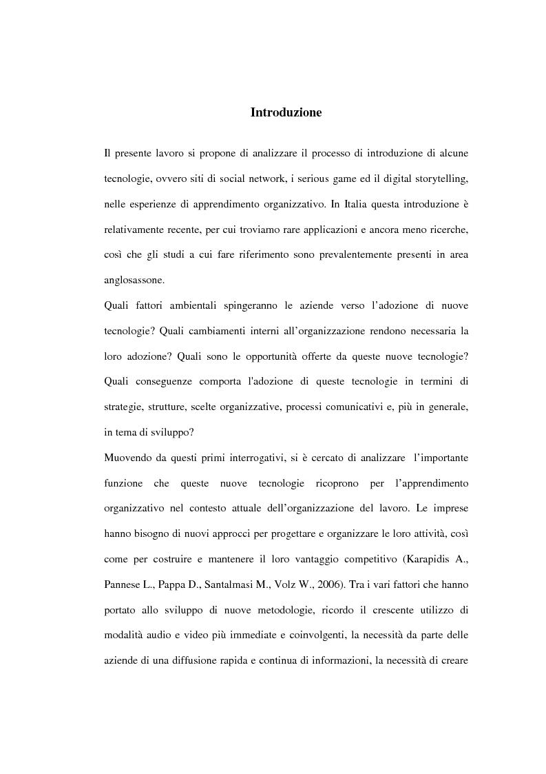 Anteprima della tesi: Nuove tecnologie e pratiche emergenti per lo sviluppo organizzativo, Pagina 1