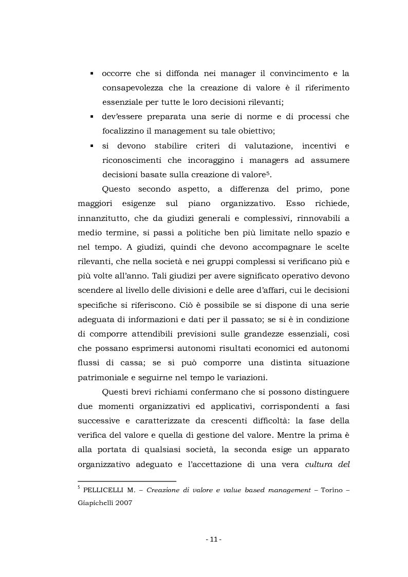 Anteprima della tesi: Acquisizioni aziendali e processi di creazione/distruzione di valore. Il caso Pirelli - Telecom Italia., Pagina 11