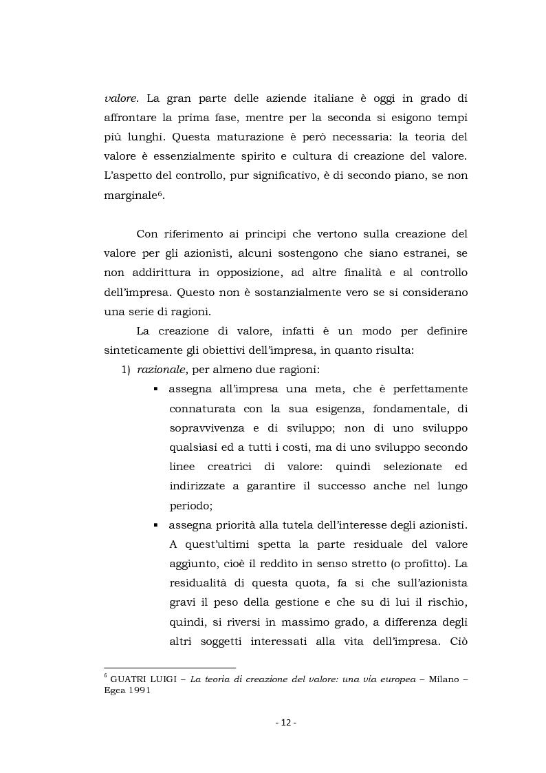 Anteprima della tesi: Acquisizioni aziendali e processi di creazione/distruzione di valore. Il caso Pirelli - Telecom Italia., Pagina 12