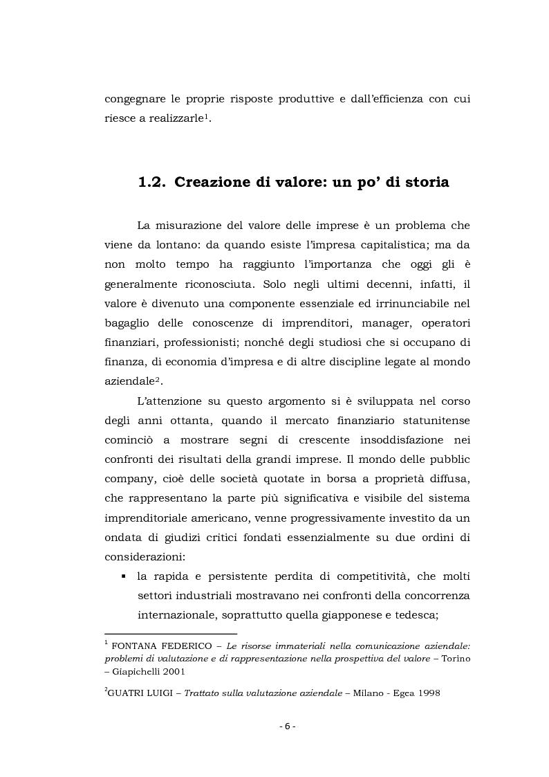 Anteprima della tesi: Acquisizioni aziendali e processi di creazione/distruzione di valore. Il caso Pirelli - Telecom Italia., Pagina 6