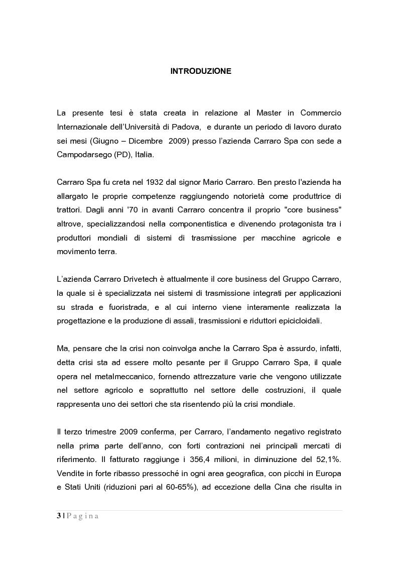 Anteprima della tesi: La crisi globale e il mercato europeo delle attrezzature di costruzione, Pagina 1