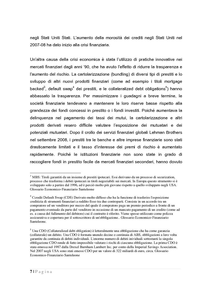 Anteprima della tesi: La crisi globale e il mercato europeo delle attrezzature di costruzione, Pagina 5