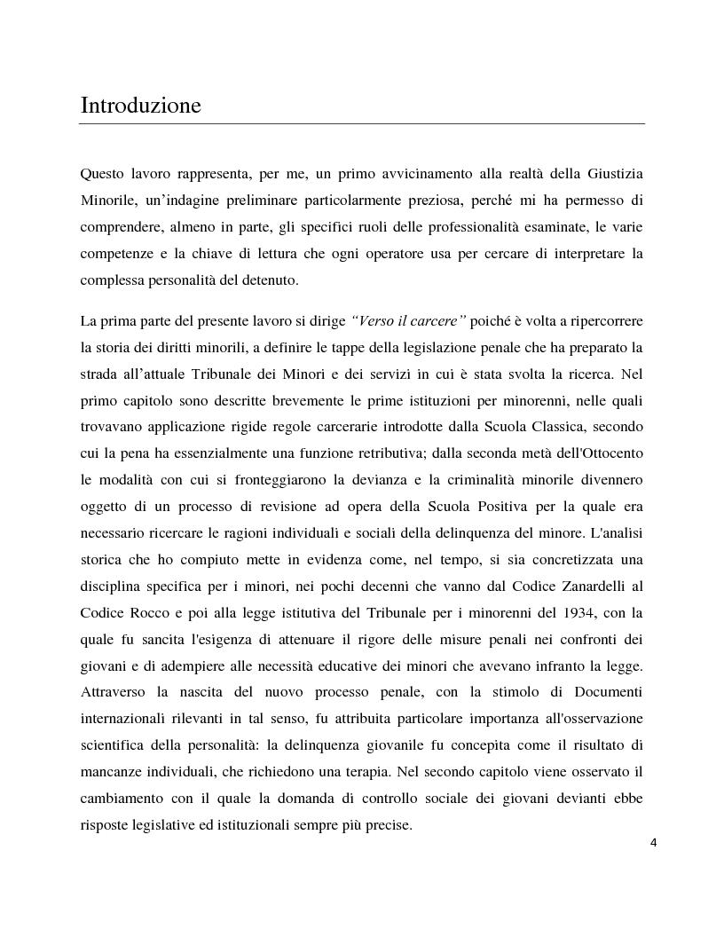 Anteprima della tesi: Dentro il carcere e oltre. La devianza minorile tra sanzione e recupero., Pagina 1