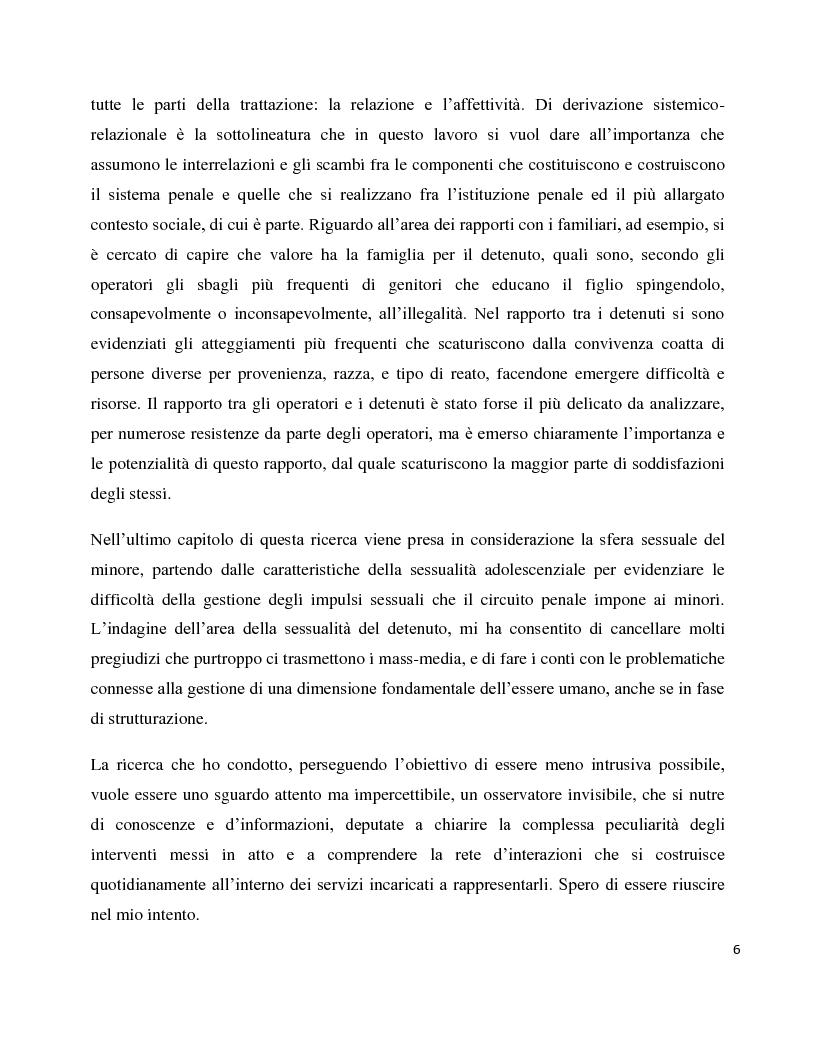 Anteprima della tesi: Dentro il carcere e oltre. La devianza minorile tra sanzione e recupero., Pagina 3