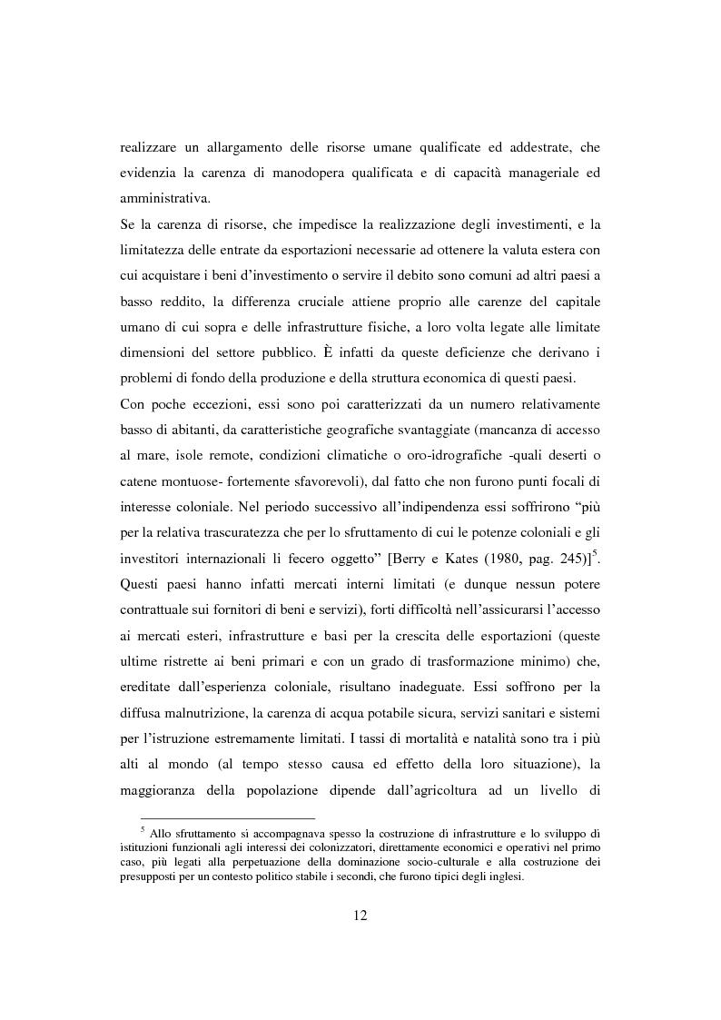Anteprima della tesi: Interazione economica Nord-Sud e crescita dei Paesi in Via di Sviluppo, Pagina 12
