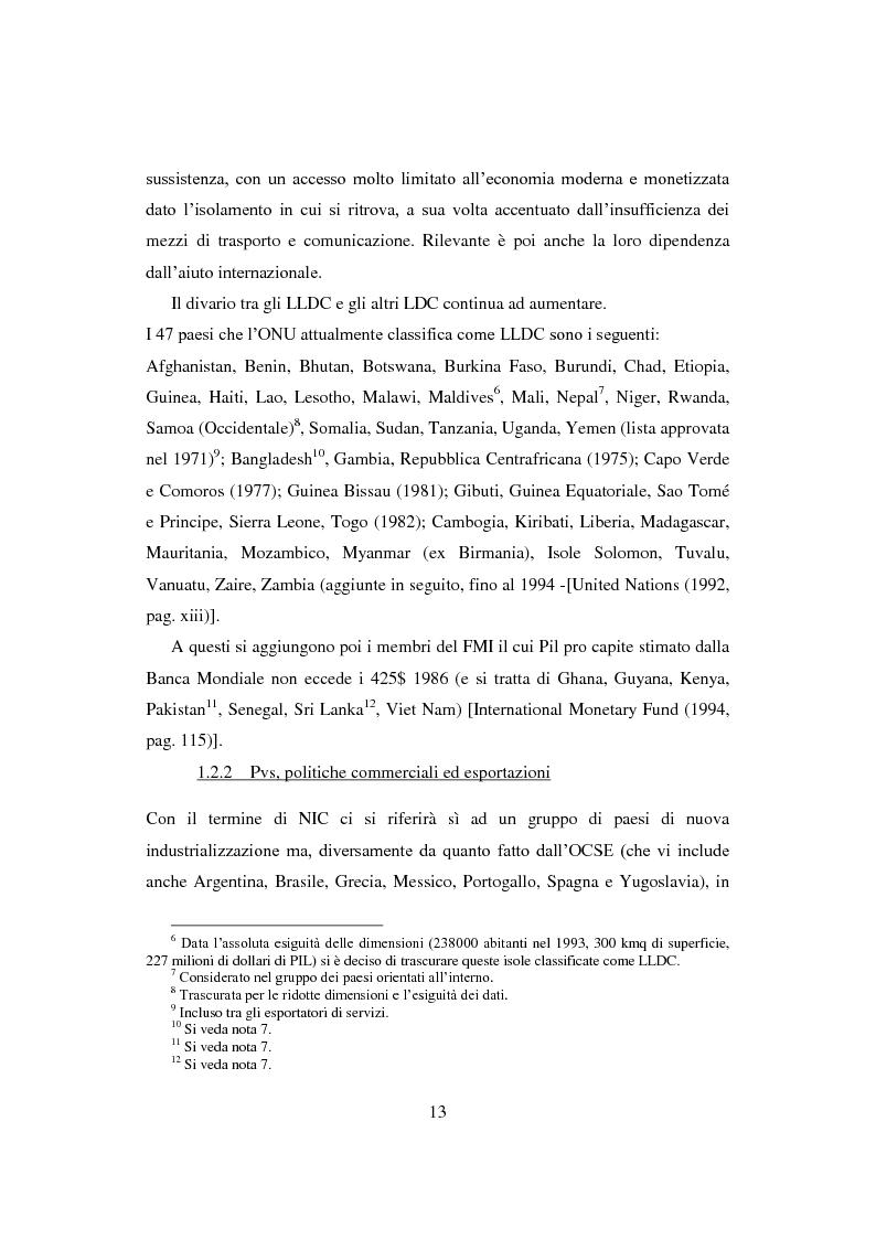 Anteprima della tesi: Interazione economica Nord-Sud e crescita dei Paesi in Via di Sviluppo, Pagina 13