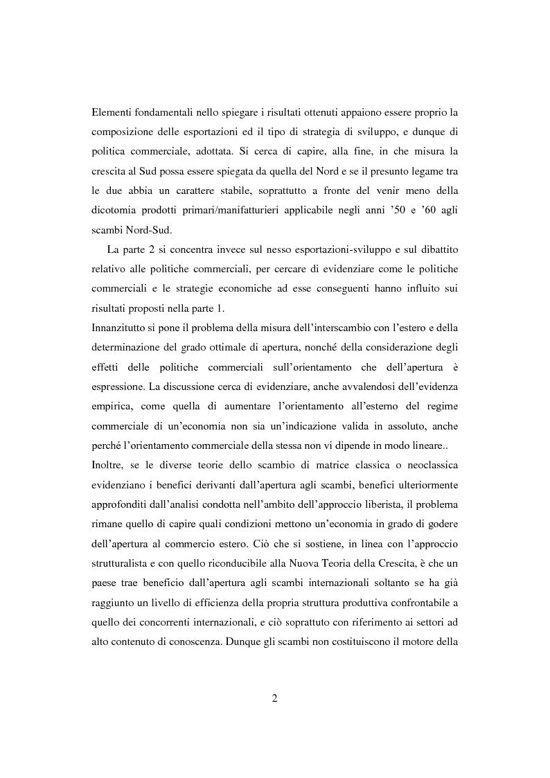 Anteprima della tesi: Interazione economica Nord-Sud e crescita dei Paesi in Via di Sviluppo, Pagina 2