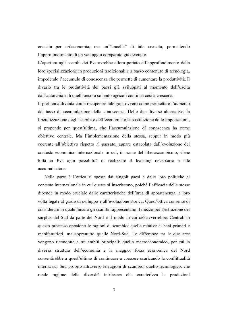Anteprima della tesi: Interazione economica Nord-Sud e crescita dei Paesi in Via di Sviluppo, Pagina 3