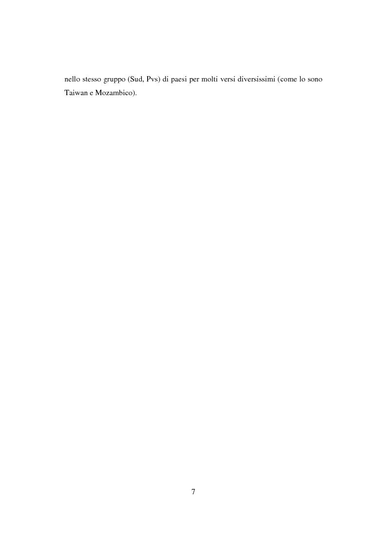 Anteprima della tesi: Interazione economica Nord-Sud e crescita dei Paesi in Via di Sviluppo, Pagina 7