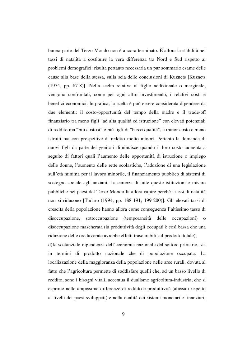 Anteprima della tesi: Interazione economica Nord-Sud e crescita dei Paesi in Via di Sviluppo, Pagina 9
