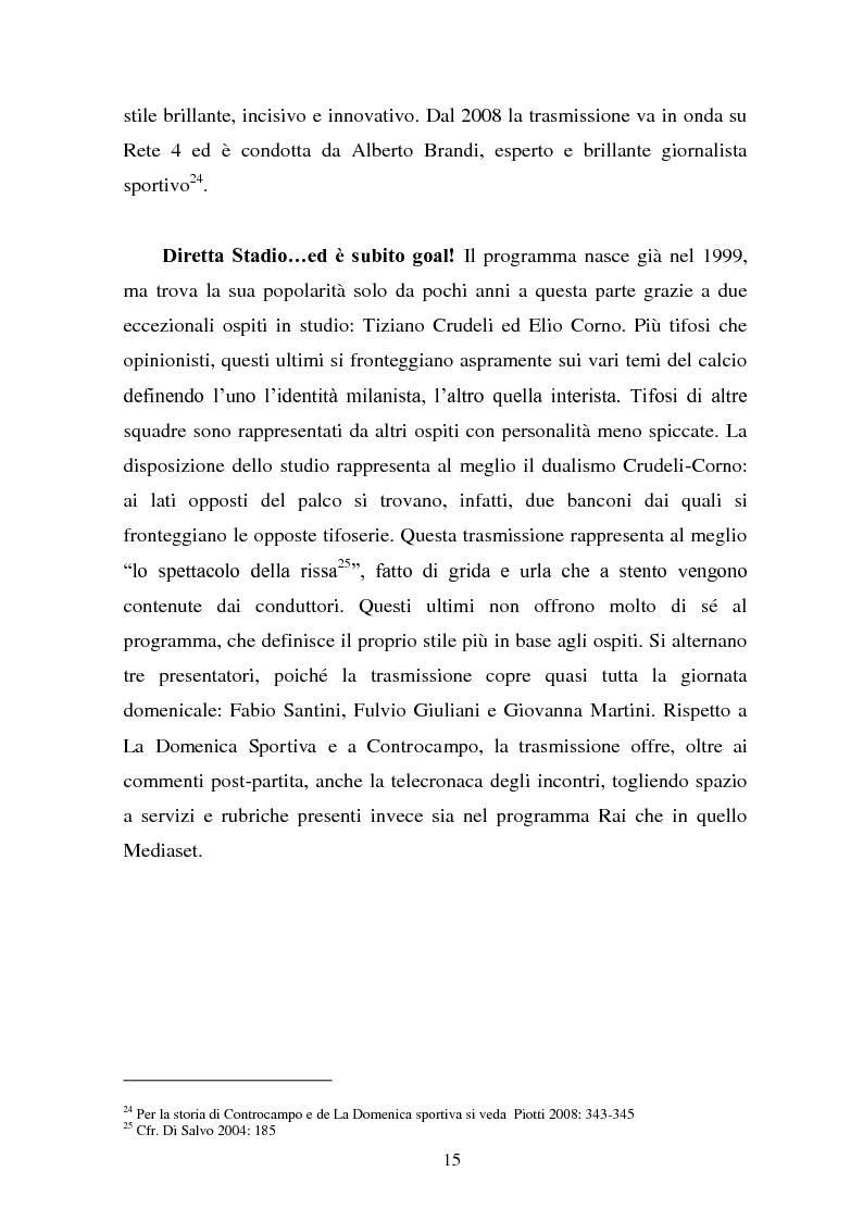 Anteprima della tesi: Il linguaggio della cronaca calcistica in tv: La Domenica Sportiva, Controcampo e Diretta Stadio (2009/2010), Pagina 11