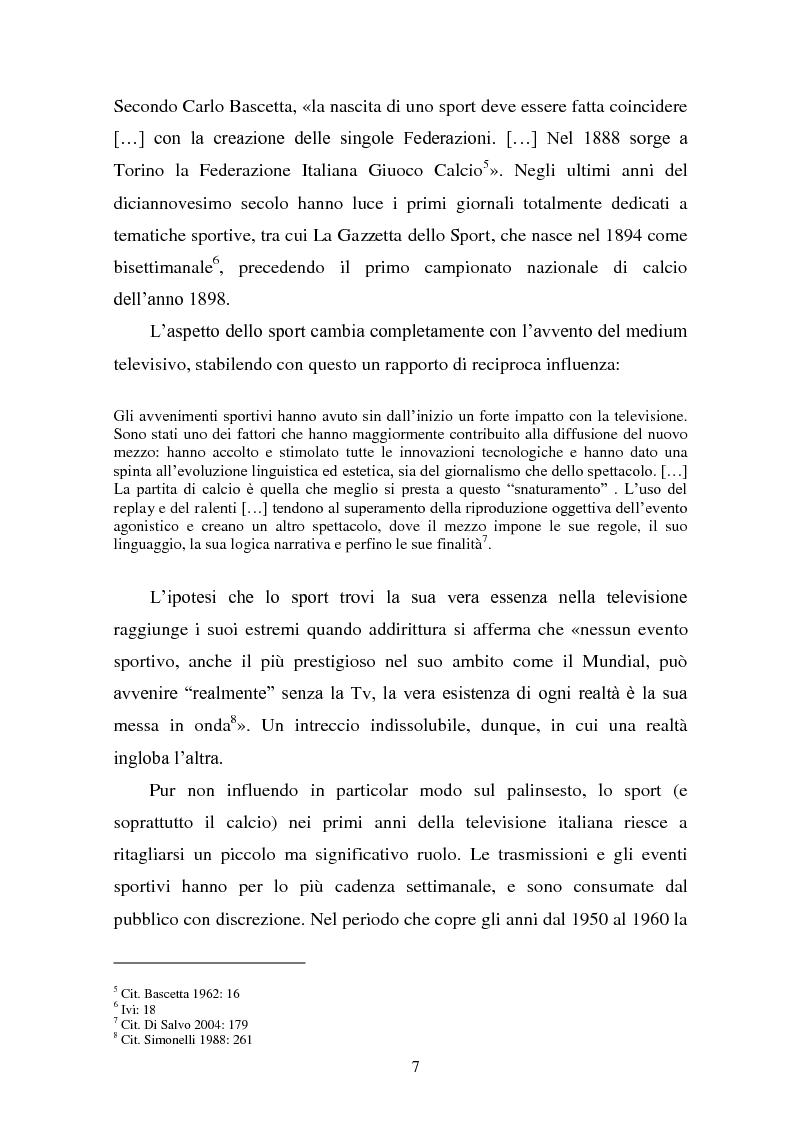 Anteprima della tesi: Il linguaggio della cronaca calcistica in tv: La Domenica Sportiva, Controcampo e Diretta Stadio (2009/2010), Pagina 3