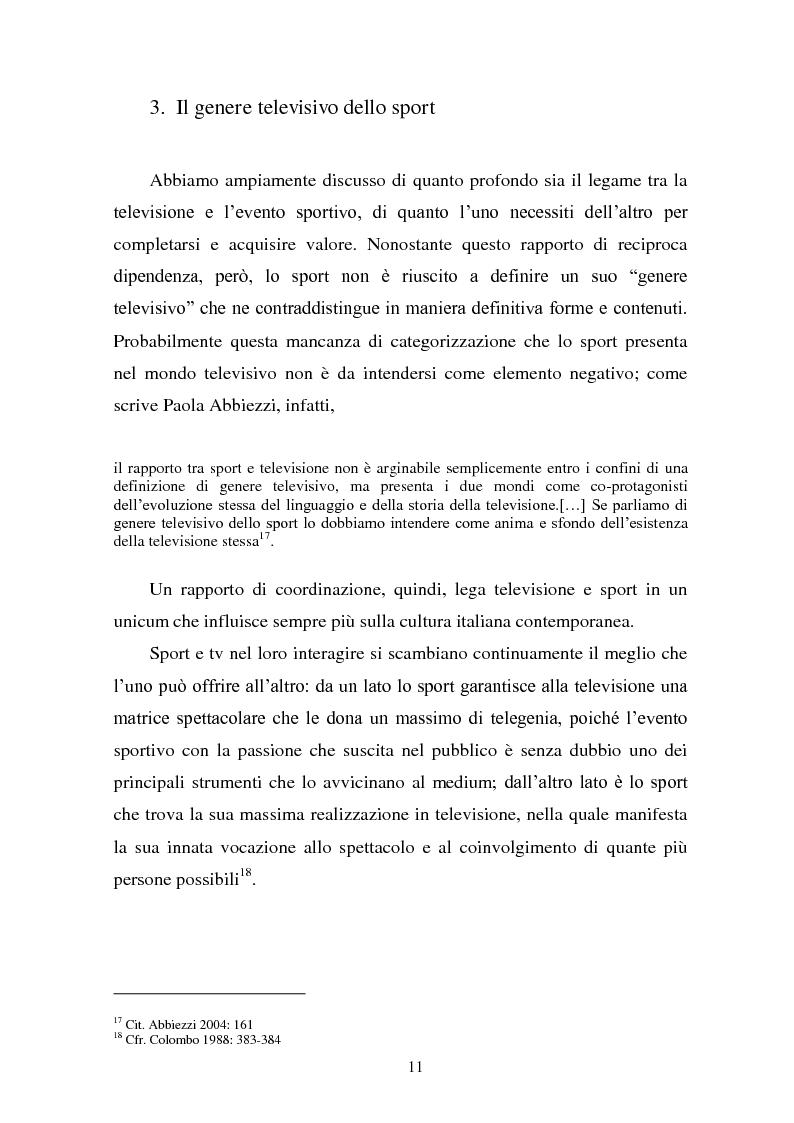 Anteprima della tesi: Il linguaggio della cronaca calcistica in tv: La Domenica Sportiva, Controcampo e Diretta Stadio (2009/2010), Pagina 7