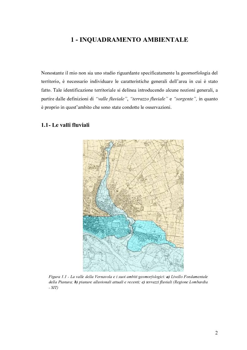 Anteprima della tesi: Dinamica di accrescimento di Leucojum aestivum L. in alcune sorgenti di terrazzo a Pavia, Pagina 2