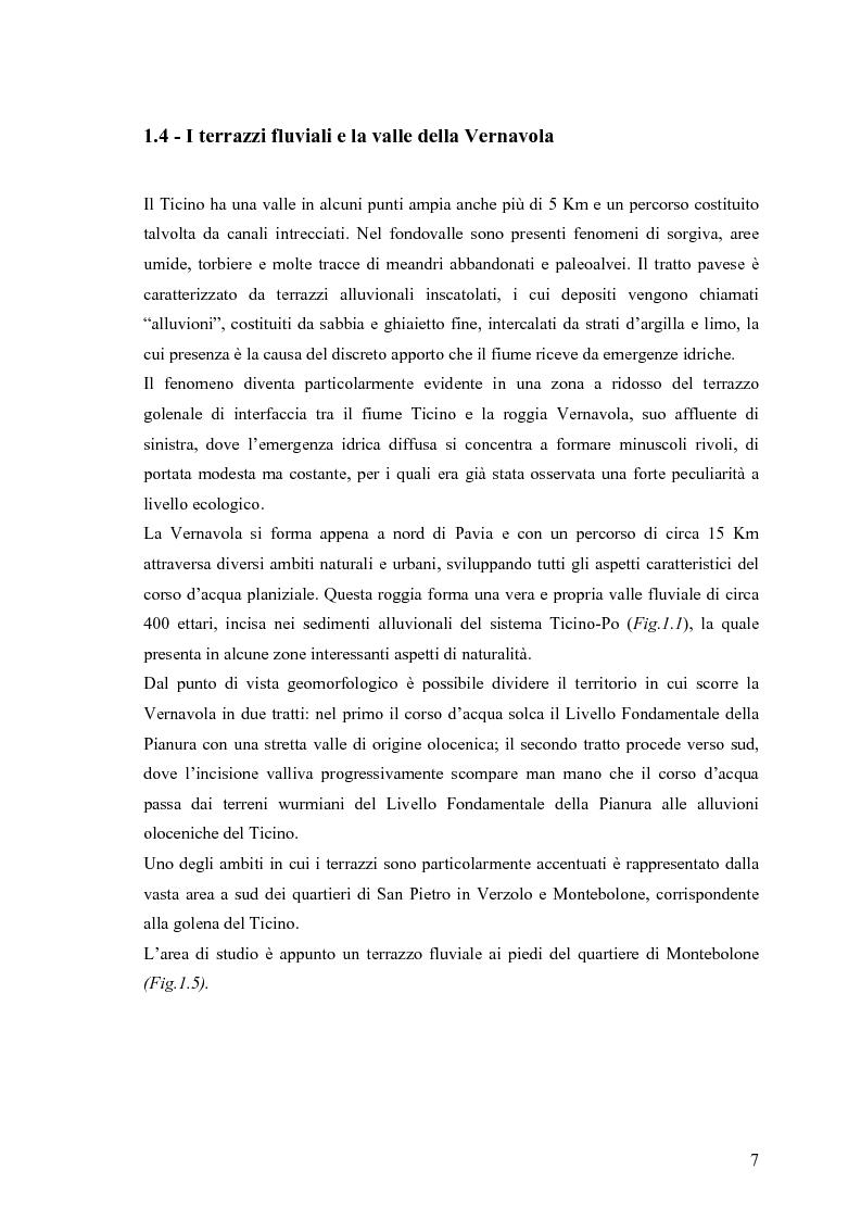 Anteprima della tesi: Dinamica di accrescimento di Leucojum aestivum L. in alcune sorgenti di terrazzo a Pavia, Pagina 7