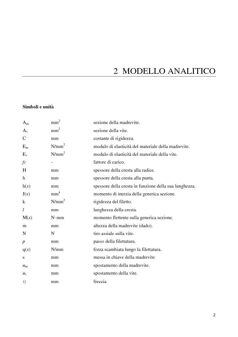 Anteprima della tesi: La distribuzione dei carichi nelle giunzioni filettate, Pagina 2