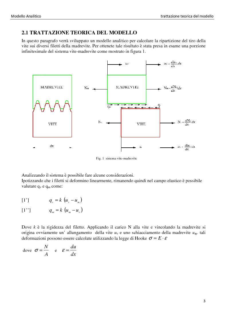 Anteprima della tesi: La distribuzione dei carichi nelle giunzioni filettate, Pagina 3