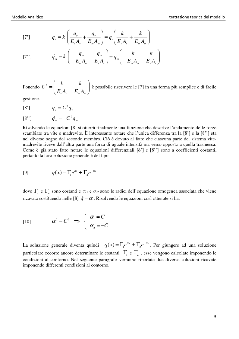 Anteprima della tesi: La distribuzione dei carichi nelle giunzioni filettate, Pagina 5