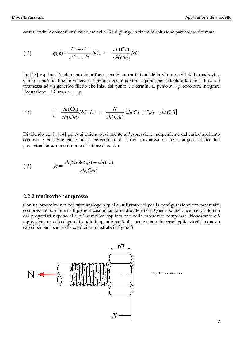 Anteprima della tesi: La distribuzione dei carichi nelle giunzioni filettate, Pagina 7