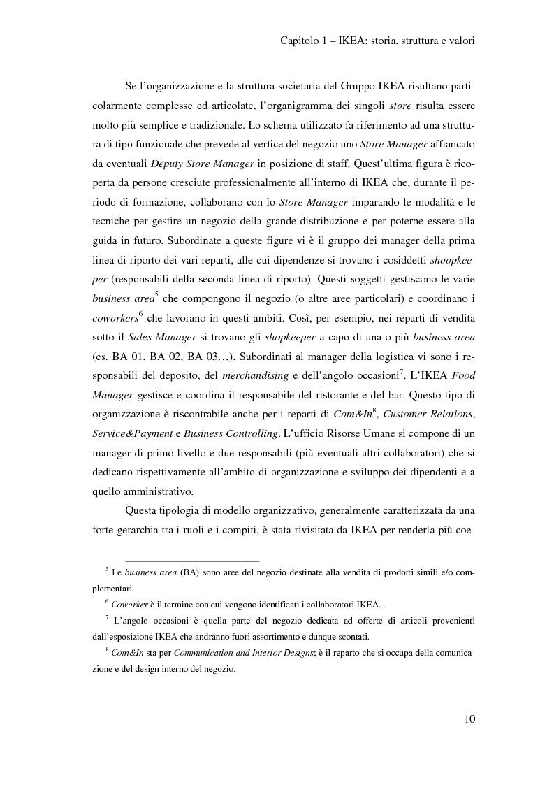 Anteprima della tesi: L'outsourcing di attività ad alta intensità di lavoro: il caso IKEA - Brescia, Pagina 10
