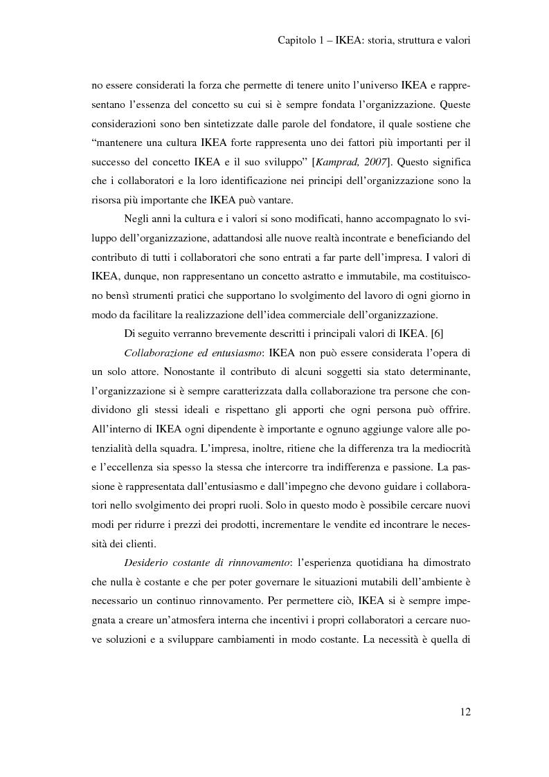 Anteprima della tesi: L'outsourcing di attività ad alta intensità di lavoro: il caso IKEA - Brescia, Pagina 12