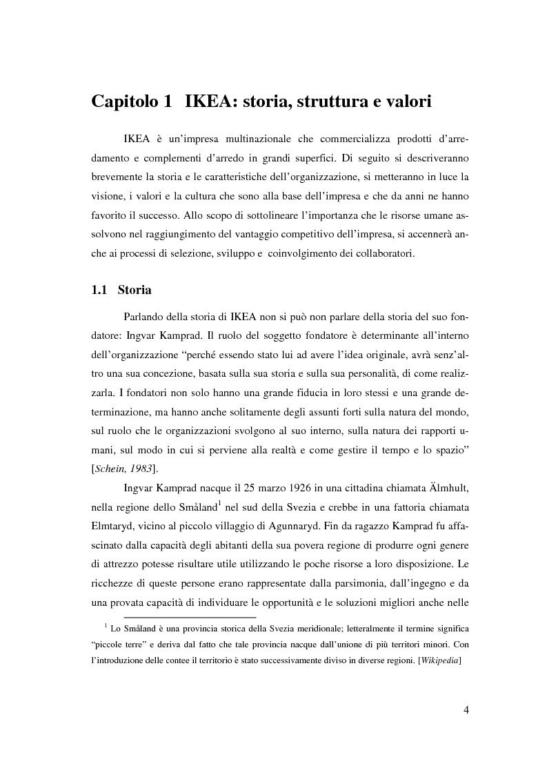 Anteprima della tesi: L'outsourcing di attività ad alta intensità di lavoro: il caso IKEA - Brescia, Pagina 4