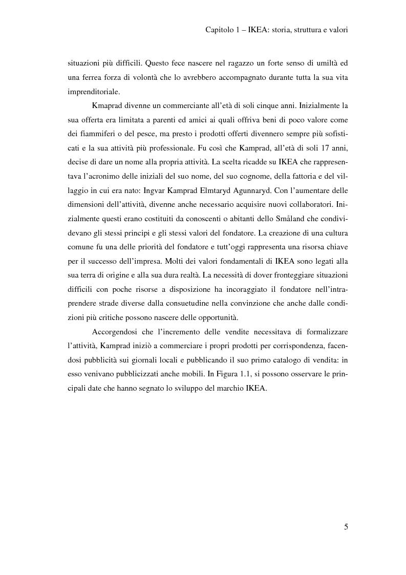 Anteprima della tesi: L'outsourcing di attività ad alta intensità di lavoro: il caso IKEA - Brescia, Pagina 5