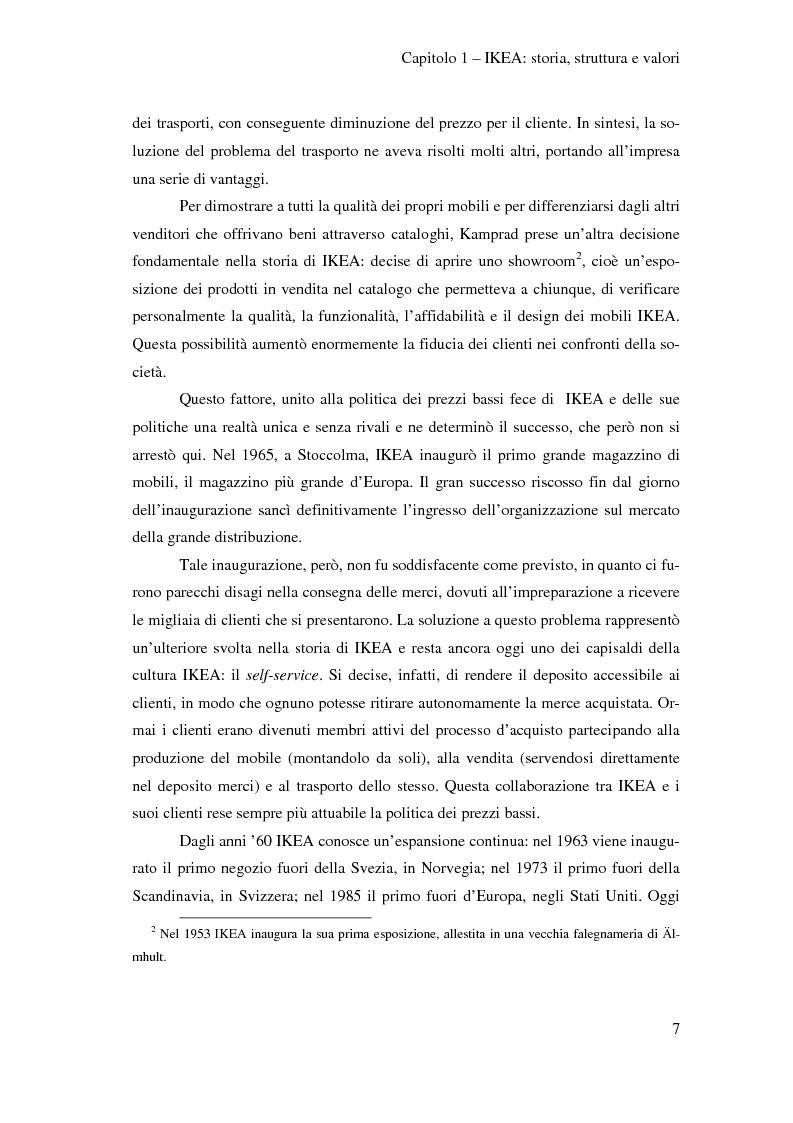 Anteprima della tesi: L'outsourcing di attività ad alta intensità di lavoro: il caso IKEA - Brescia, Pagina 7