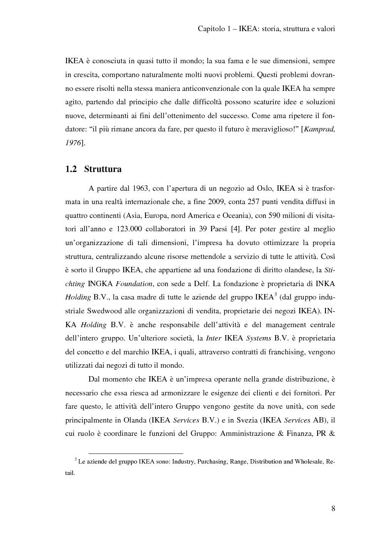 Anteprima della tesi: L'outsourcing di attività ad alta intensità di lavoro: il caso IKEA - Brescia, Pagina 8