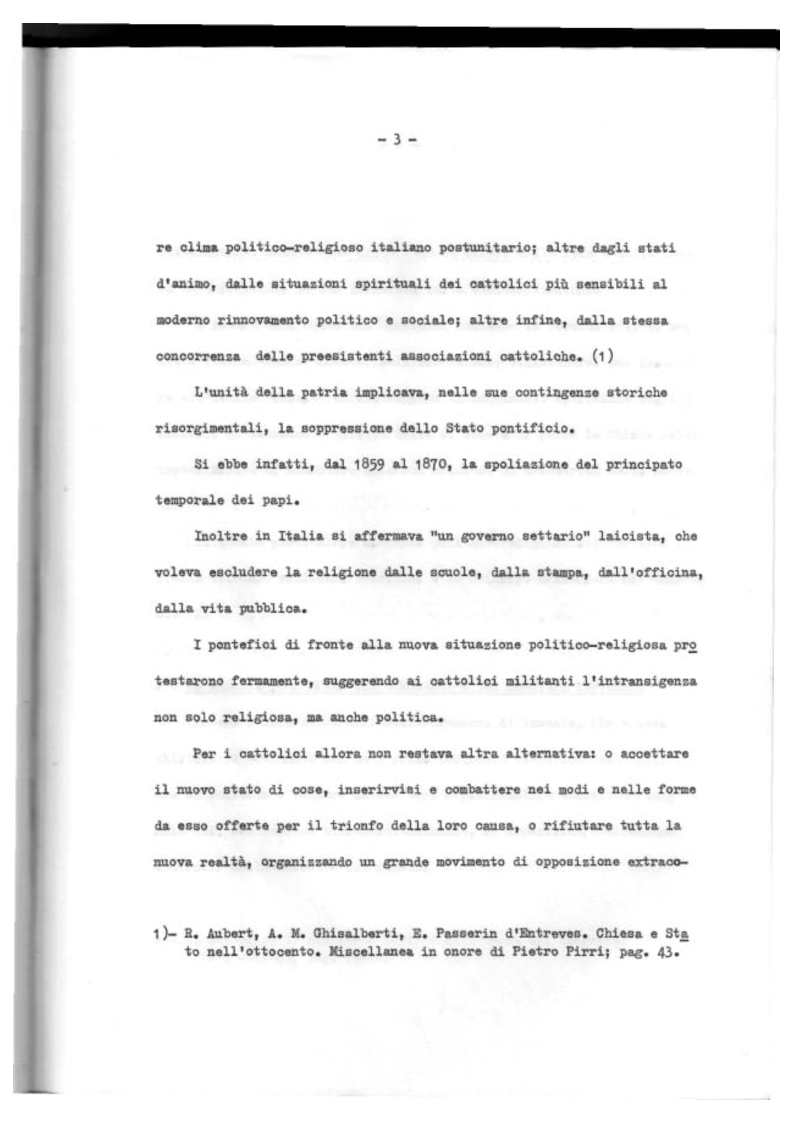 Anteprima della tesi: Il Mutualismo Cattolico a Sestri Ponente nell'ambito del Movimento Sociale Cattolico Ligure (1875-1900), Pagina 3