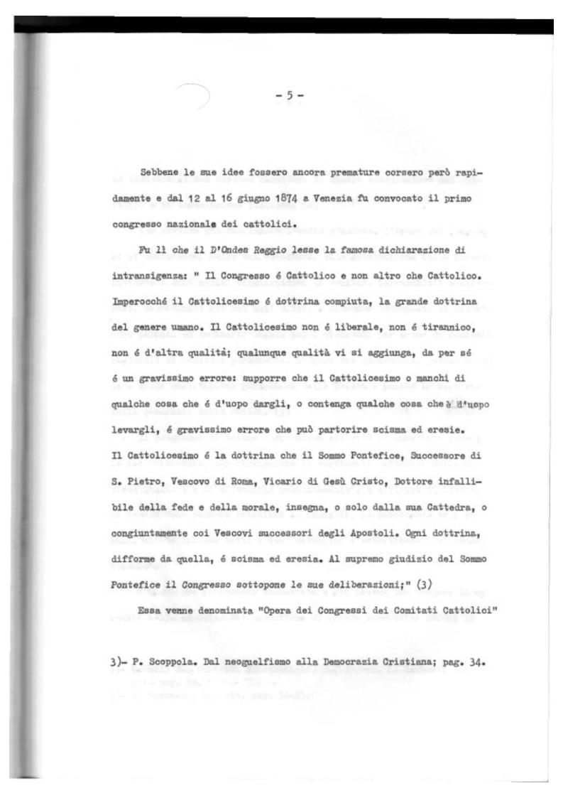 Anteprima della tesi: Il Mutualismo Cattolico a Sestri Ponente nell'ambito del Movimento Sociale Cattolico Ligure (1875-1900), Pagina 5