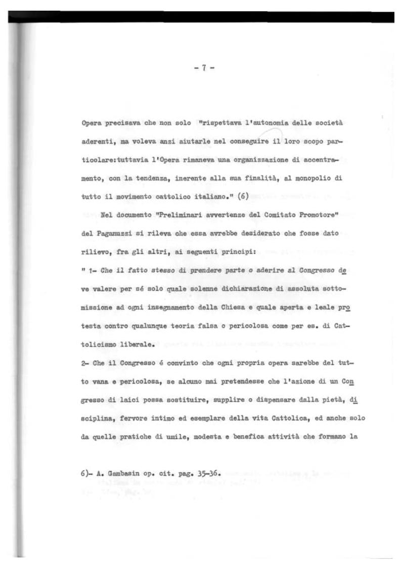 Anteprima della tesi: Il Mutualismo Cattolico a Sestri Ponente nell'ambito del Movimento Sociale Cattolico Ligure (1875-1900), Pagina 7