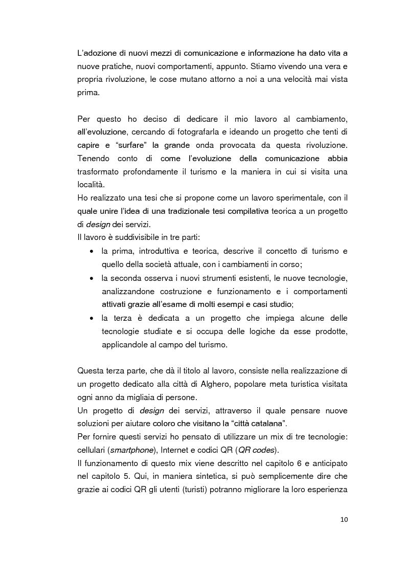 Anteprima della tesi: Alghero QR - La città parla in codice. Tra turismo, web 2.0, servizi mobile e progetti sperimentali., Pagina 4